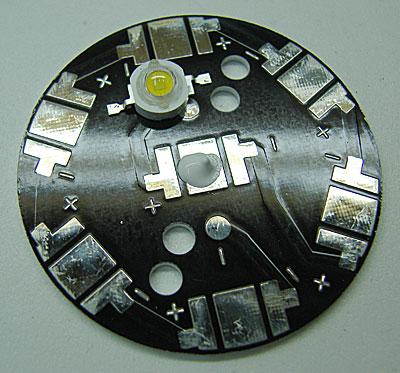 установка светодиодов на термопасту